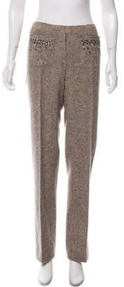 Alberta Ferretti Embellished Mid-Rise Pants