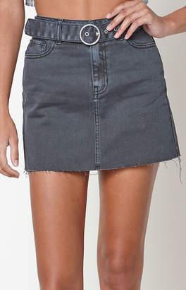 Pacsun Belted 5-Pocket Mini Skirt