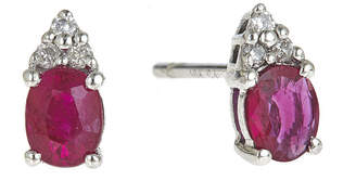 JCPenney FINE JEWELRY LIMITED QUANTITIES Lead Glass-Filled Ruby and Diamond-Accent Earrings