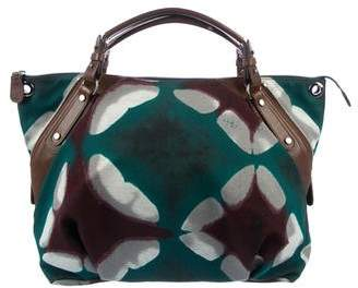 Marni Leather-Trimmed Printed Canvas Tote