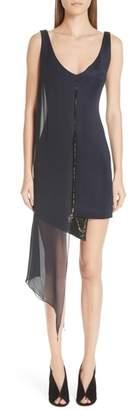 GALVAN Serpentine Chiffon Overlay Sequin Dress
