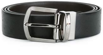 Emporio Armani logo emblazoned belt