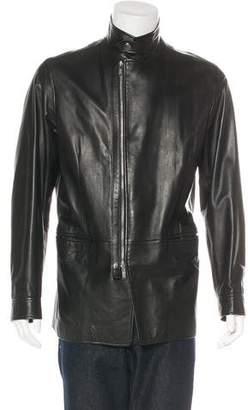 Armani Collezioni Lambskin Zip Jacket