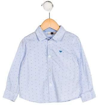 Giorgio Armani Baby Boys' Printed Button-Up Shirt