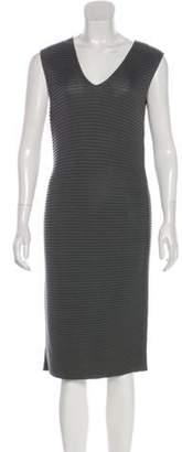 Fendi Sleeveless Midi Dress Grey Sleeveless Midi Dress