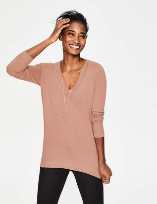 Boden Cashmere Relaxed VNeck Sweater