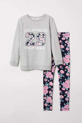 H&M Sweatshirt and Leggings - Gray