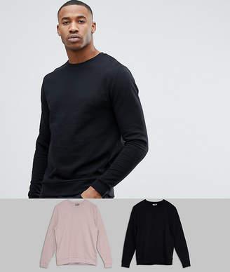 Asos Design Sweatshirt 2 Pack Black/Pink SAVE