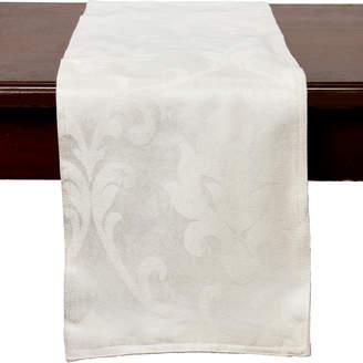 Dainty Home White Belmare Table Runner