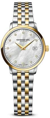 Raymond Weil Toccata Two-Tone Stainless Steel and PVD Watch with Diamonds, 29mm