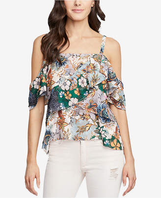 Rachel Roy Tiered Cold-Shoulder Top, Created for Macy's