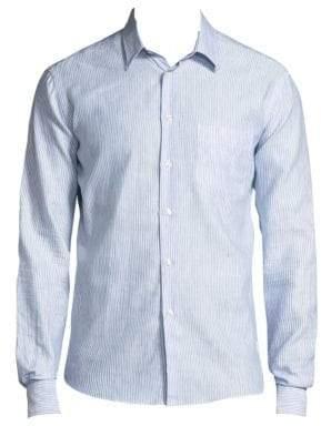 Vilebrequin Striped Linen Button-Down Shirt