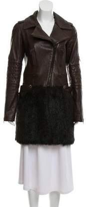 Chanel Leather Vegan Fur Coat