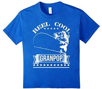 Reel Cool Grandpop TShirt Fishing Grandfather Father's Gift