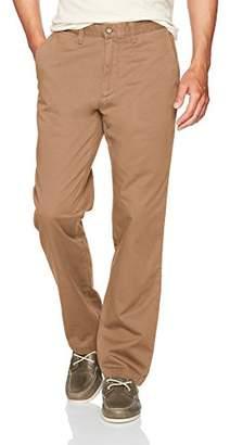 Nautica Men's Standard Cotton Twill Flat Front Chino Pant