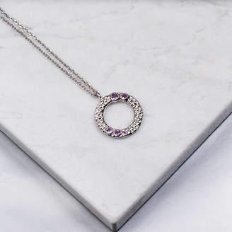 Wanderlust Emily Mortimer Jewellery Silver Amethyst Necklace