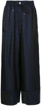 Sacai elasticated waist trousers