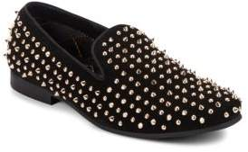 Steve Madden Dreemz Studded Suede Smoking Slippers