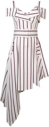Alexis Daniele striped assymmetrical dress