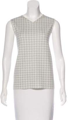 Akris Cashmere Houndstooth Sweater