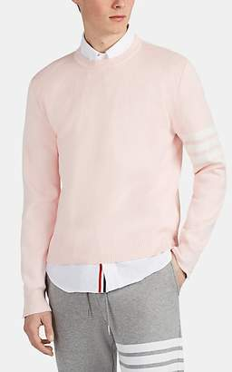 Thom Browne Men's Block-Striped Cotton Crewneck Sweater - Pink