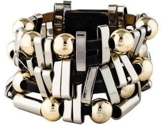 Temperley London Spheres & Bars Leather Cuff
