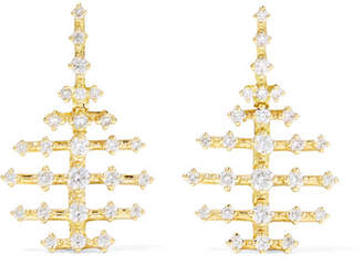 Fernando Jorge - Mini Disco 18-karat Gold Diamond Earrings