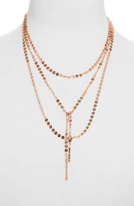 BaubleBar Amber Layered Chain Y-Necklace