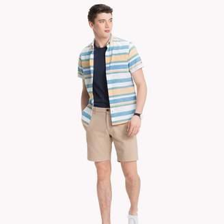 Tommy Hilfiger Cotton Linen Stripe Short-Sleeve Shirt