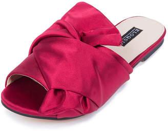 ELOQUII Ava Satin Bow Slide Sandal