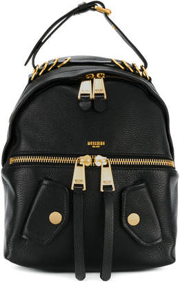 Moschino Womens Leather-Trimmed Backpack zSQ0BqF