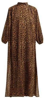 Mes Demoiselles Farouche Leopard Print Cotton Kaftan - Womens - Leopard