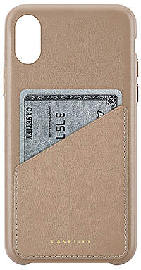 Casetify Leather Card iPhone X Case