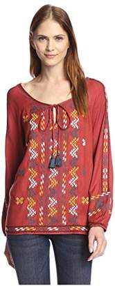 Love Sam Women's Embroidered Peasant Top $54.99 thestylecure.com