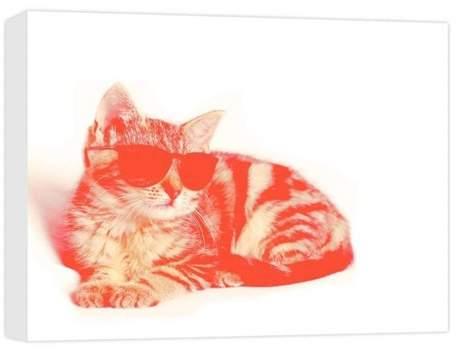 Hipster Cat Decorative Canvas Wall Art 11