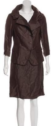 Max Mara Linen-Blend Skirt Suit