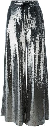 McQ Alexander McQueen sequinned palazzo pants $581 thestylecure.com