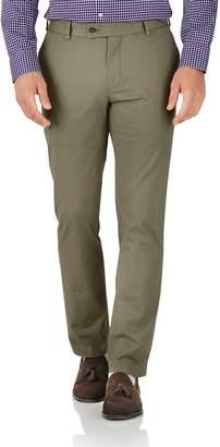 Charles Tyrwhitt Khaki Slim Fit Stretch Cotton Chino Pants Size W30 L30
