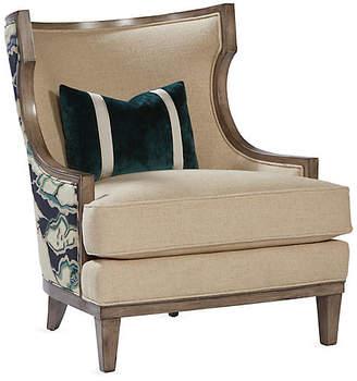 Massoud Furniture Stargo Wingback Chair - Natural Linen