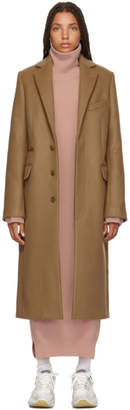 Acne Studios Tan Wool and Mohair Overcoat