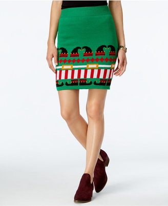 Planet Gold Juniors' Holiday-Print Pencil Skirt $39 thestylecure.com