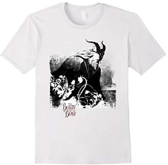 Disney Beauty & The Beast Grungy Black& Graphic T-Shirt