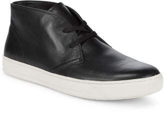 Vince Round Toe Leather Chukka Boot