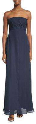 Armani Collezioni Strapless Pleated-Bodice Gown, Astral Blue $2,395 thestylecure.com