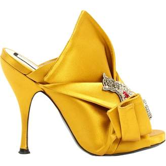 N°21 N21 Yellow Cloth Sandals