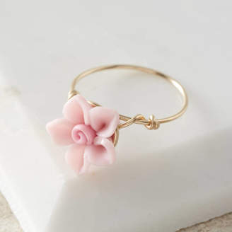 Kat&Bee Pink Rose Flower Ring