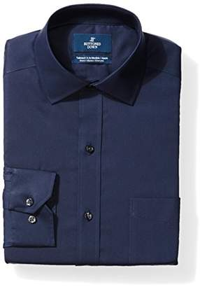 Buttoned Down Men's Tailored Fit Stretch Poplin Non-Iron Dress Shirt