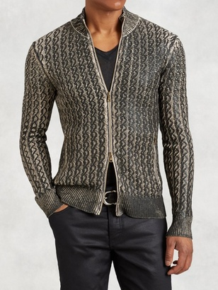 Foil Cable Knit Sweater $698 thestylecure.com