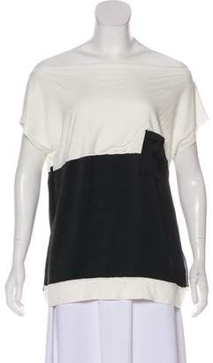 Bottega Veneta Colorblock Short Sleeve Blouse