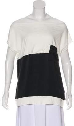Bottega Veneta Colorblock Short Sleeve Blouse